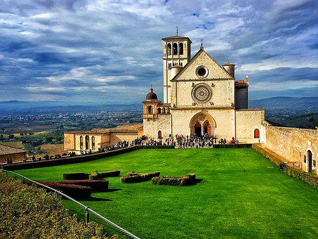 Umbria, Church, Italy, Catholic, Sanctuary