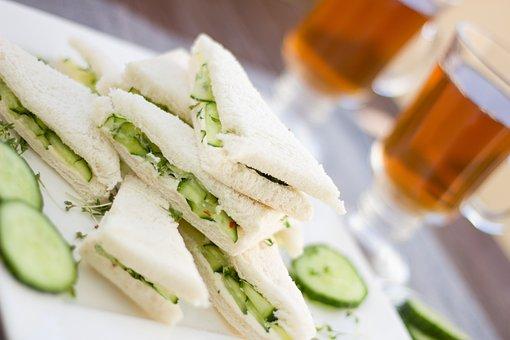 Cucumber, Sandwich, Snack, Tee, English, British, Royal