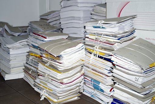 Scrap, Archive, Files, Briefcase, Papers, Old