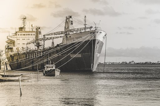 Ships, Black And White, Moored, Rio, Sergipe, Aracaju