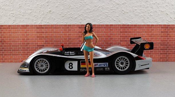 Model Car, Audi, R8r, Sporty, Silver, Convertible
