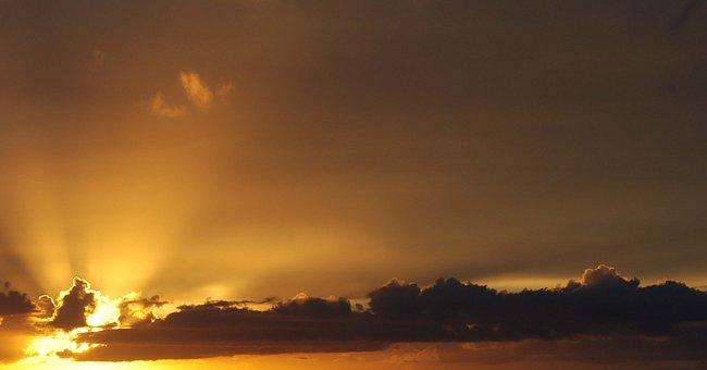 Sunrise, Miami, Biscayne Bay, Nature, Sun