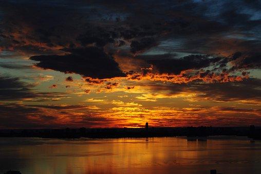 Sunrise, Miami, Nature, Biscayne Bay, Ocean, Florida