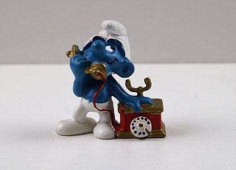 Smurf, Smurfs, Telephone Smurf, Figure, Toys