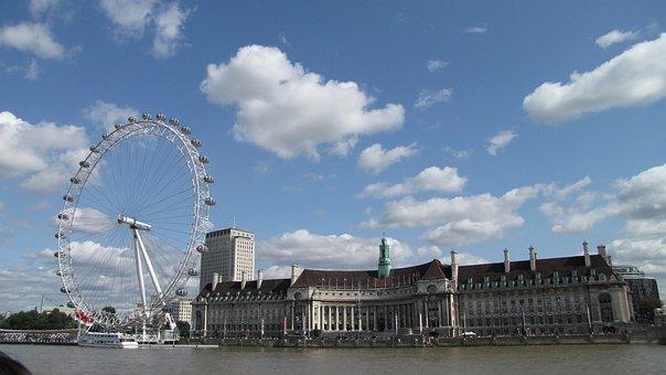 London, London Eye, Thames River