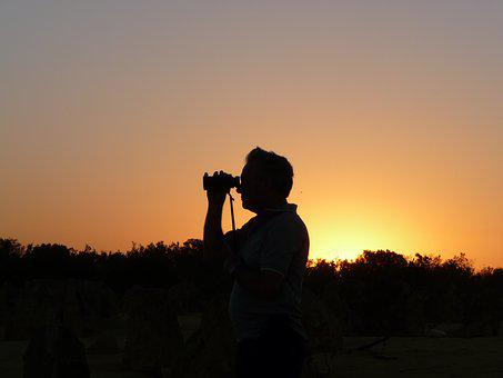Viewer, Sunset, Scenic, Evening, Observation, Sky