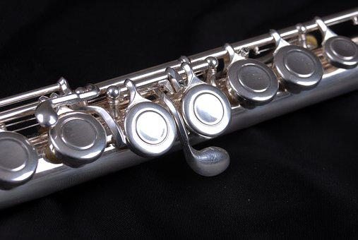 Flute, Instrument, Music, Sound, Wind, Notes, Silver