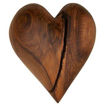 Heart, Wooden Heart, Love, Wood, Nature