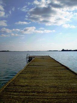 Palic Lake, Subotica, Wooden Pathway, Pier, Dock, Water