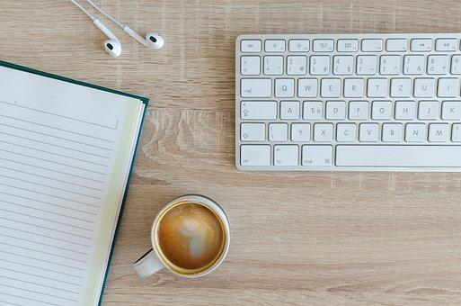 Computational, Office, Table, Keyboard, Wood, Work