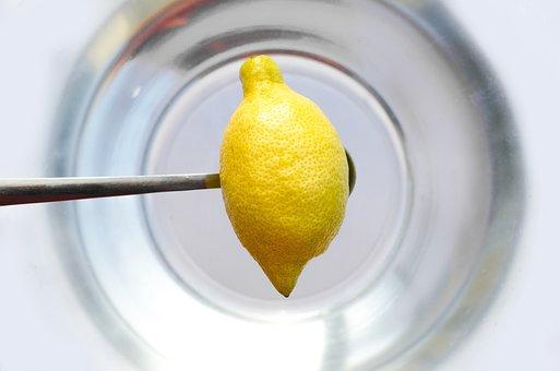 Hospodářství, Citron, Lžíce, Voda, žlutá, Kuchyně, Jíst