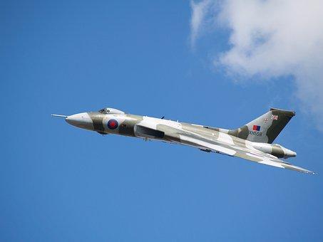 Bomber, Vulcan, Aircraft, Aeroplane, Raf, Plane, Jet