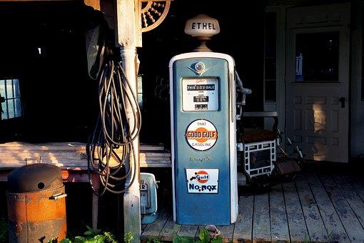 Petrol Stations, Antique, Gas Pump, Refuel, Petrol