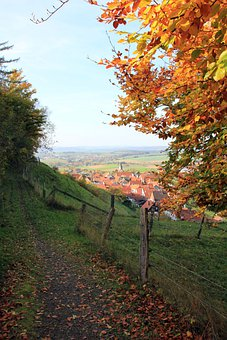 Away, Fence, Landscape, Teutoburg Forest, Village, View