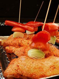 Grill, Barbecue, Delicious, Meat, Paprika, Tomato