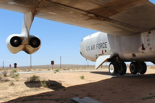 B-52, Air Force, Mojave Desert, Bomber, Military, Force