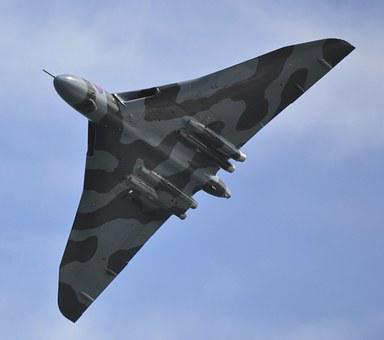 Vulcan Bomber, Bomber, Jet, Aircraft, Flight