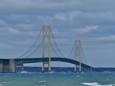 Bridge, Mackinac, Mackinaw City, Mighty Mac, Big Mac