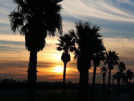 Sunrise, California, Landscape, Huntington, Beach