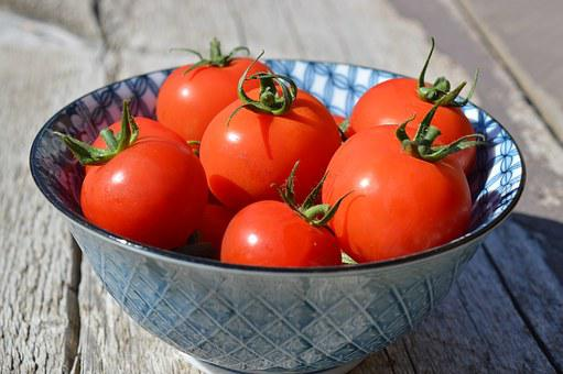 Tomatoes, Cherry Tomatoes, Vegetables, Bowl, Healthy