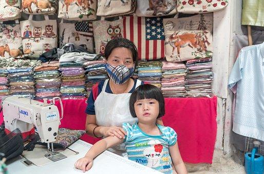 Chiang Mai, Girl, Woman, Seamstress, Shop, Clothing