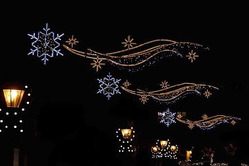 Christmas Market, Lichterkette, Lights, Christmas