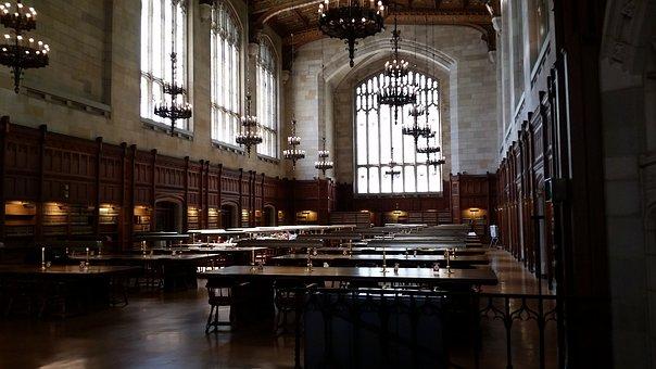 Library, College, Back To School, Quiet, Dark