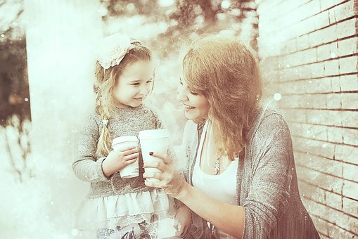 Party, Good Morning, Mother, Daughter, Little Girl
