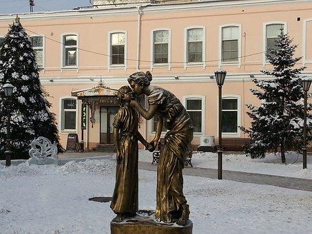 Sculpture, Daughter, Mother, Irkutsk