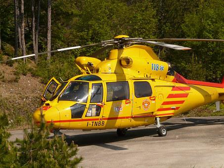 Rescue Helicopter, Helicopter, Rescue, First Aid