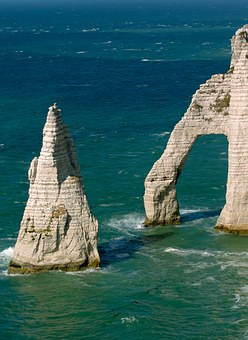 Etretat, Normandy, Sea, Water, France, Stone Arch