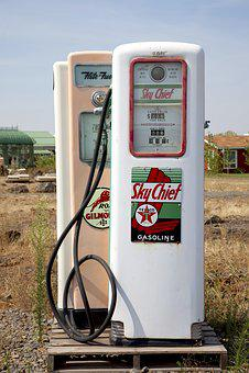 Petrol Stations, Antique, Gas Pump, Washington, Refuel