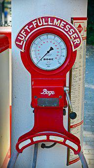 Technology, Gauge, Petrol Stations, Old, Show, Fittings