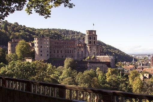 Heidelberg, Germany, Castle, Travel, Tourism, Old