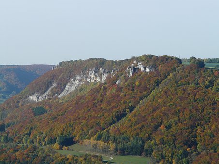 Hausener Rocks, Swabian, Alb, Alb Eaves, Outlook