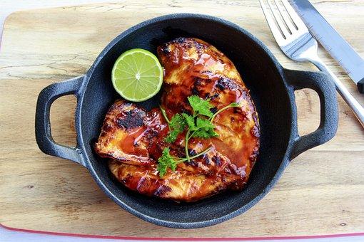 Chicken, Grilled, Bbq, Roast, Garlic, Herbs, Menu