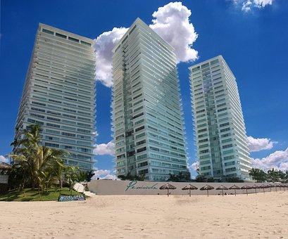 Puerto Vallarta, Mexico, Construction, Hotel, Blue