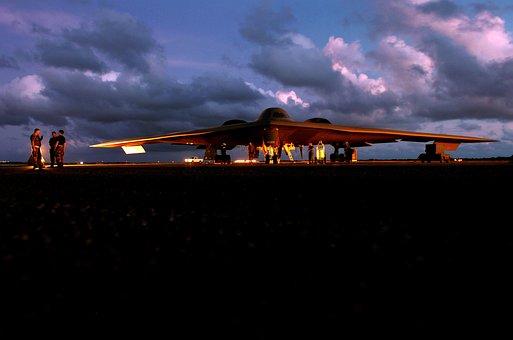 Stealth, Fighter, Bomber, Jet, Plane, Sunset, Sunrise