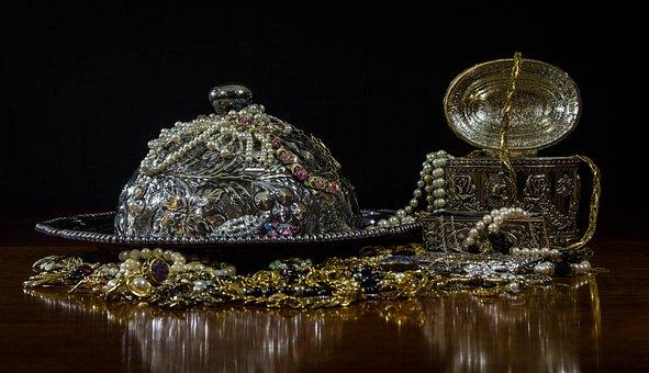 Jewels, Silver, Gold, Treasure, Gems, Ransom, Pearls