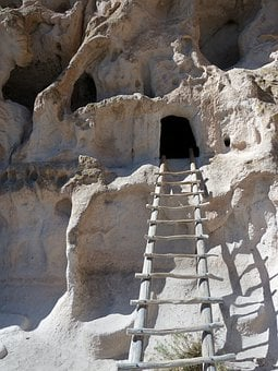 Bandelier National Monument, Rocks, Limestone, Ladder