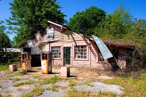 Petrol Stations, Leave, Alabama, Selma, Usa, America