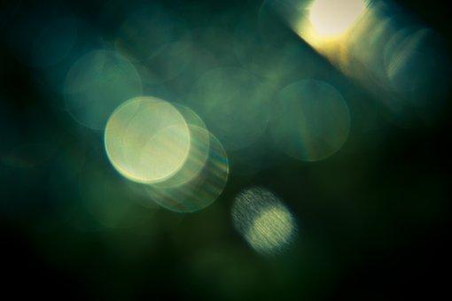 Bokeh, Effect, Green, Texture, Round, Light, Dark