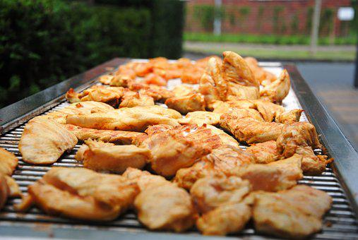 Meat, Barbecue, Grill, Chicken, Garden, Grilled Meats