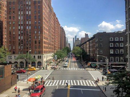 New York, Highline, Skyline, City, Manhattan, New, York