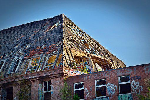 Lost Places, Factory, Roof, Pforphoto, Roof Truss