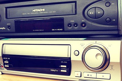 Video, Vcr, Vhs, Retro, Cassette, Old, Plastic, Tape