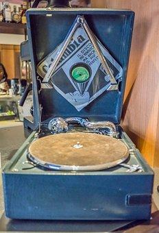 Antique Record Player, Old, Music, Record, Retro, Vinyl