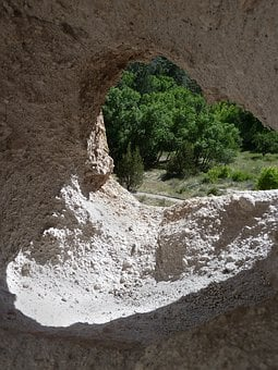 Rock Hole, Desert, Bandelier National Monument