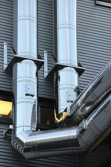 Pipes, Lines, Shiny, Stainless Steel, Pipeline