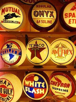 Signs, Lamps, Texaco, Onyx, White Flash, Mutual